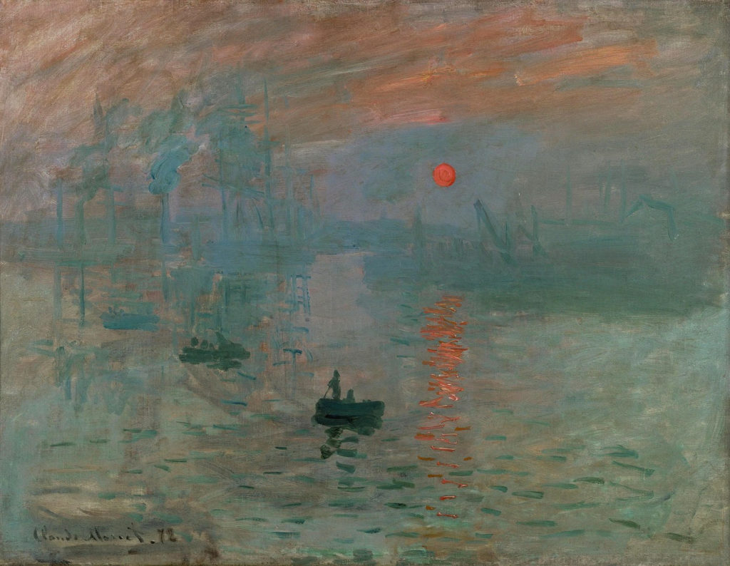 Monet's Impression, Sunrise defined the style and violated the tenets of Academic Art